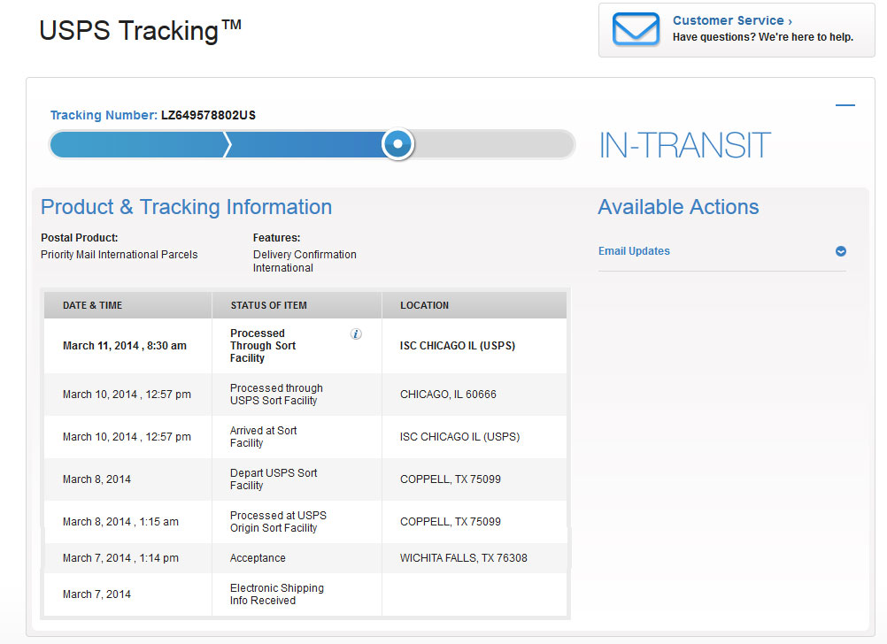 d0df85fc0686 ... Typical USPS to Overseas