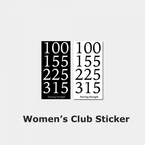 club sticker women