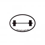 lifters window sticker 405 barbell