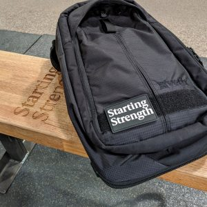 gear ss patch on backpack