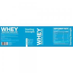 nutritional label starting strength whey protein