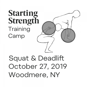 starting strength training camp woodmere squat deadlift 20191027