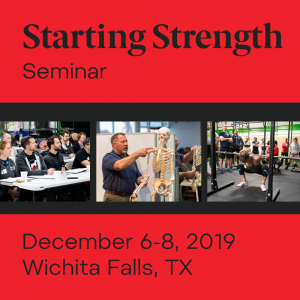 training starting strength seminar december texas