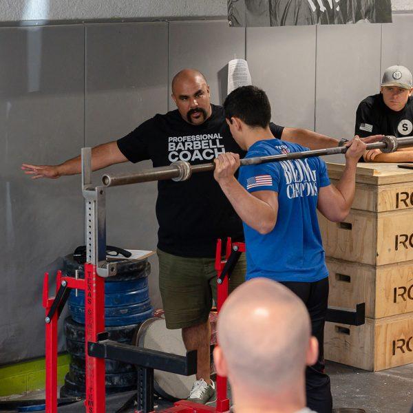 squat coaching first set delgadillo