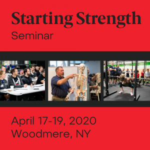 starting strength seminar woodmere new york april 2020
