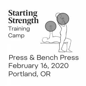 training camp press bench press portland