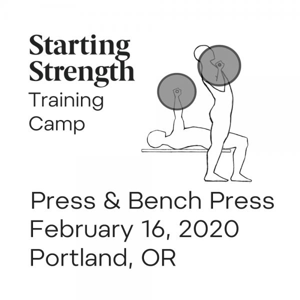 training camp press bench press portland