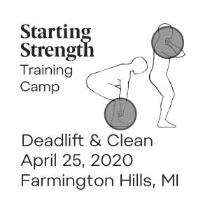 starting strength deadlift power clean michigan camp