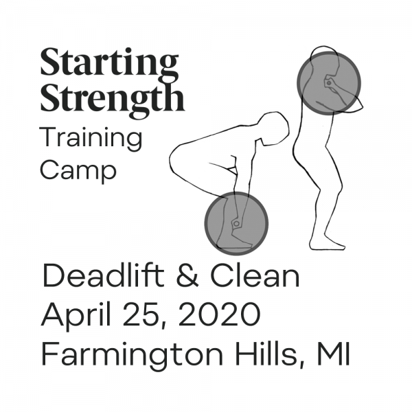 starting strength deadlift power clean michigan camp