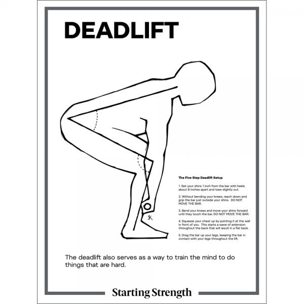 poster starting strength deadlift