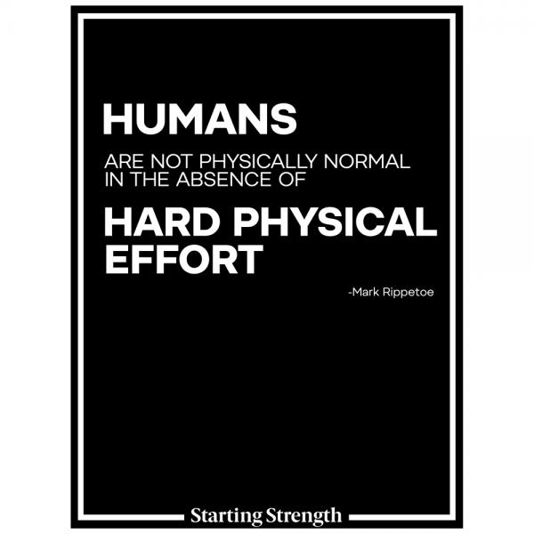 poster starting strength hard physical effort