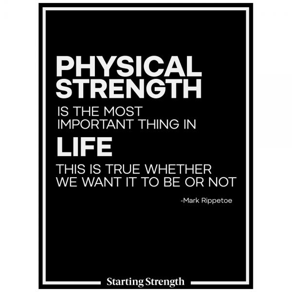 poster starting strength physical strength