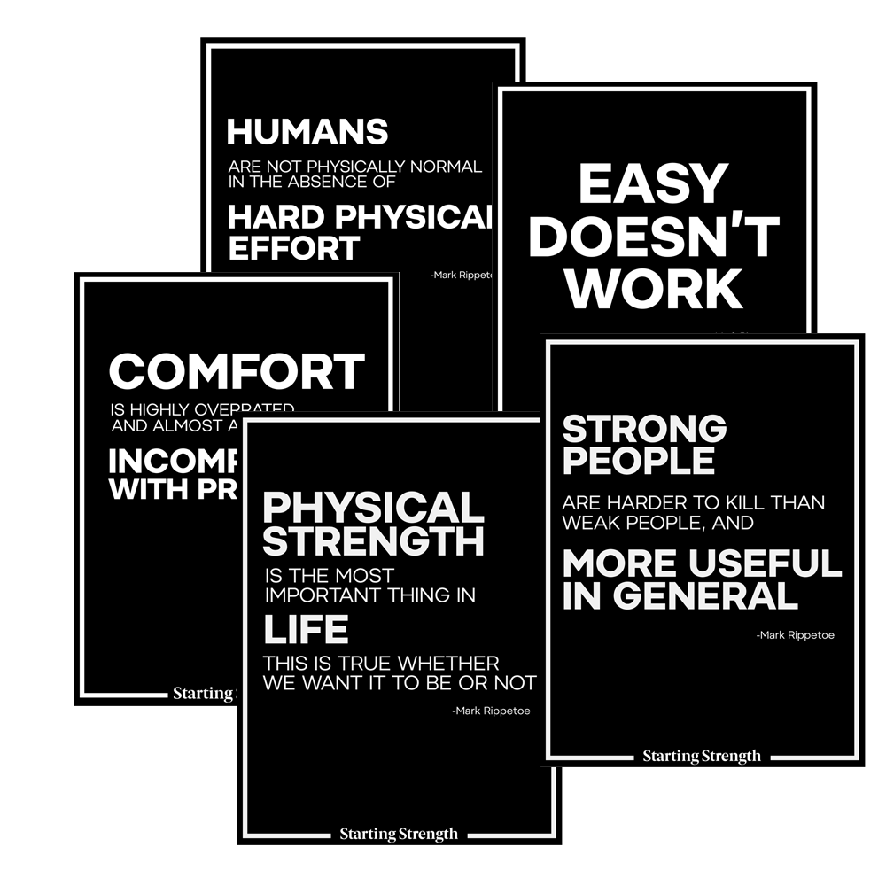 starting strength poster rippetoe quotes
