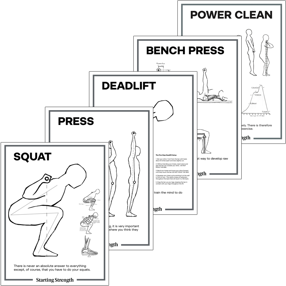 posters starting strength barbell lifts