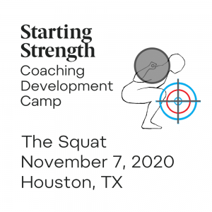 starting strength coaching development camp squat