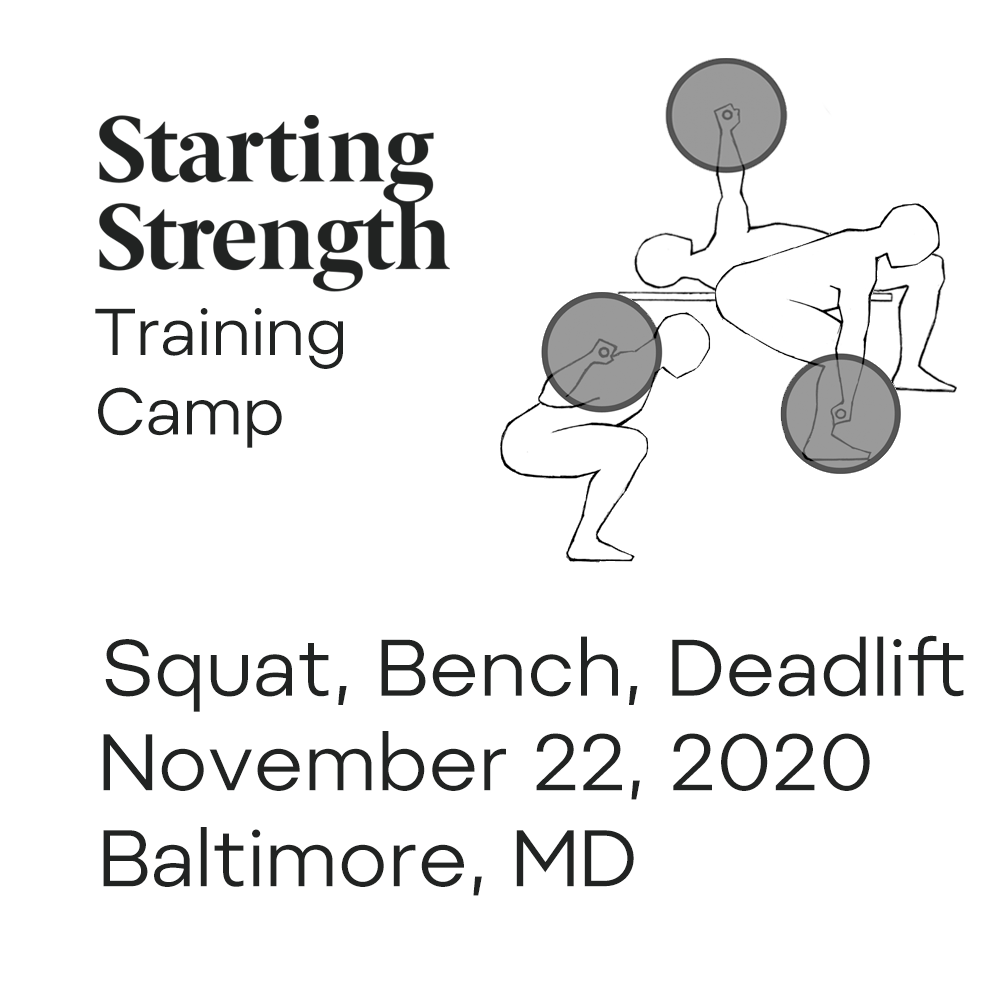 starting strength training camp squat bench deadlift