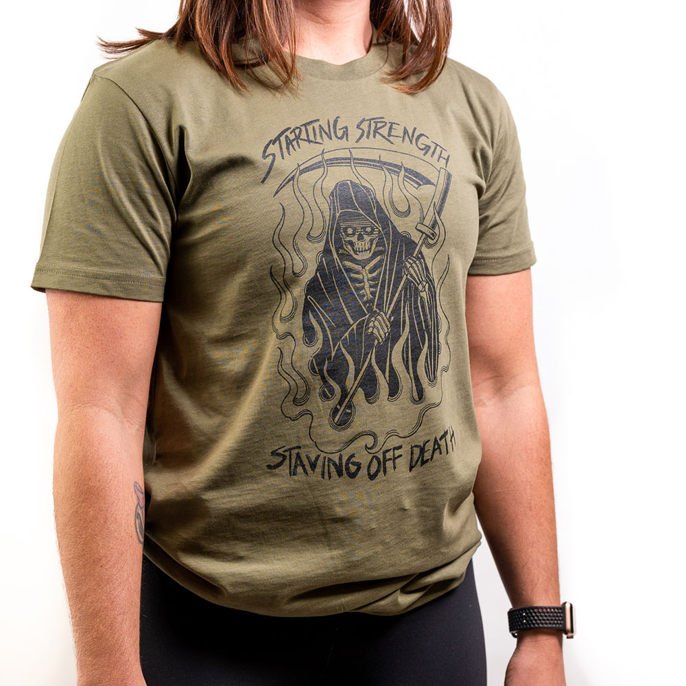 staving off death t shirt front