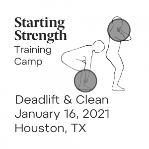 starting strength training camp deadlift power clean