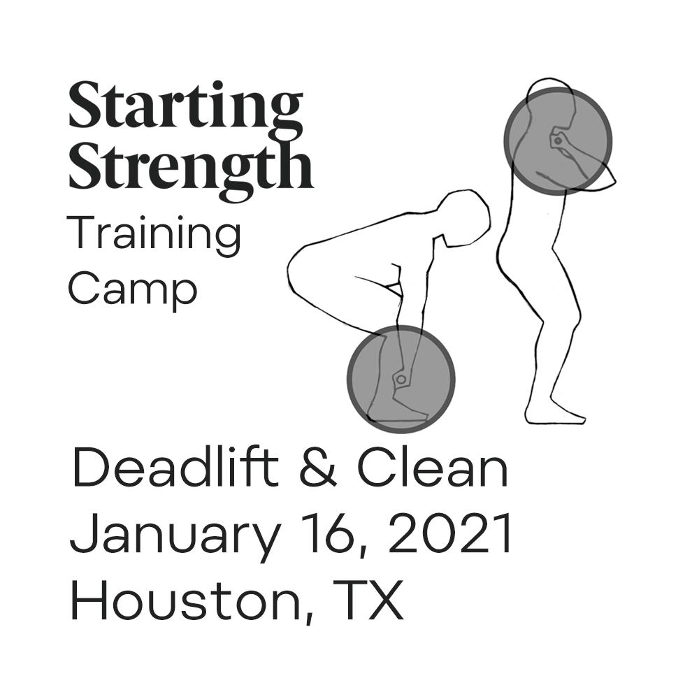 starting strength training camp deadlift power clean