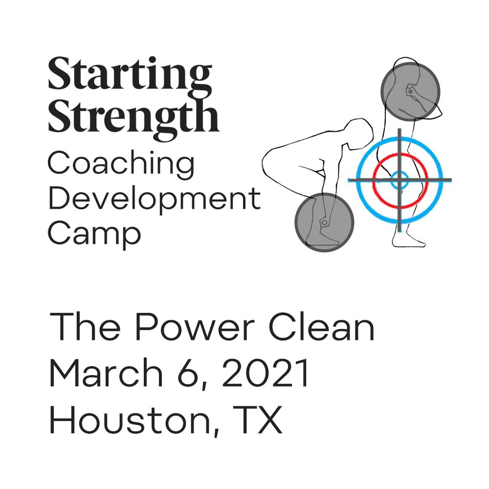 starting strength coach development power clean