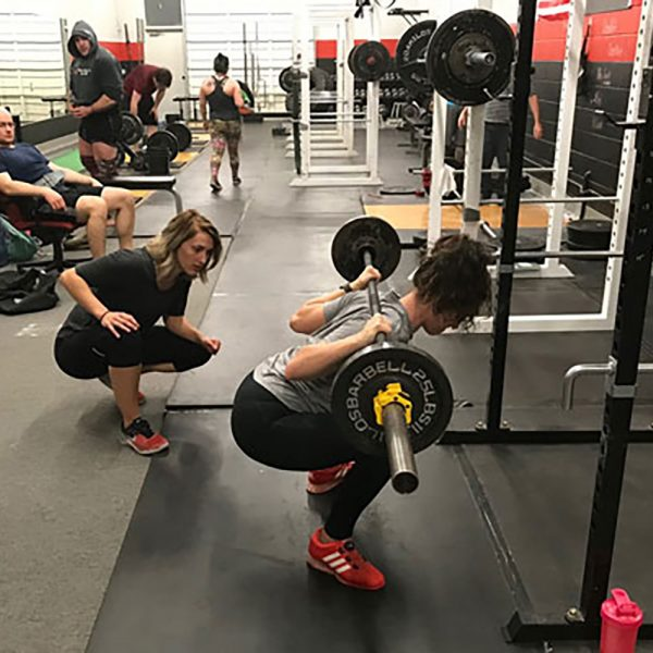 nicole rutherford coaching the squat