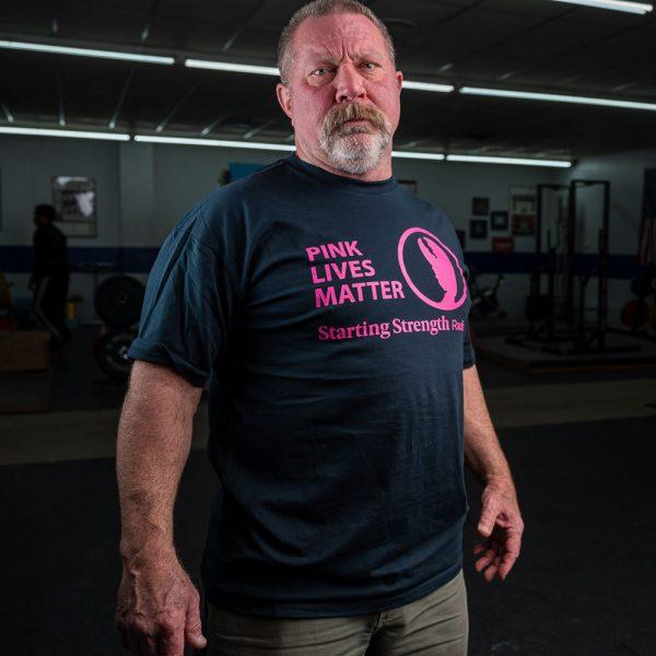 rip wearing a pink lives matter shirt