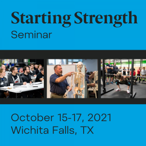 starting strength seminar october 2021