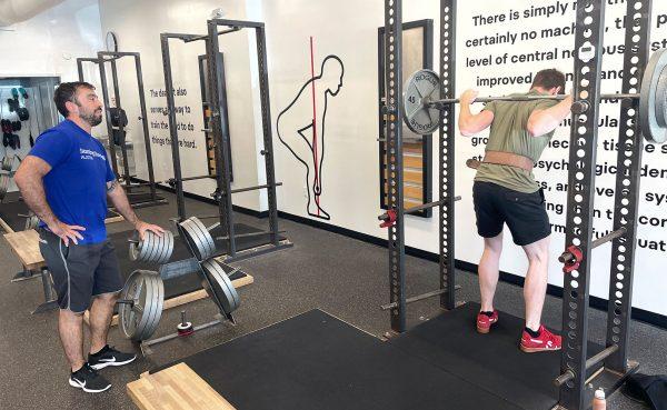 mark diffley coaching the squat
