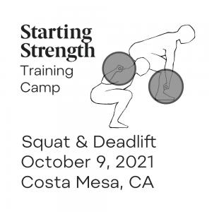 starting strength training camp california squat deadlift