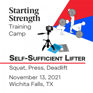 self sufficient lifter camp november 2021