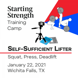 self sufficient lifter camp january 2022